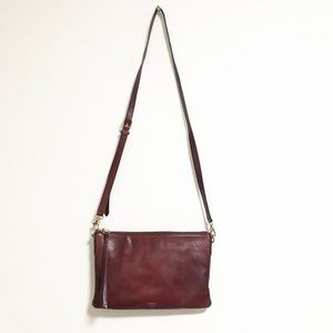 Fossil. Mahogany envelope crossbody purse